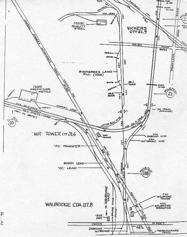 Deshler Ohio Map.Maps And Trackcharts Of Nw Ohio Maw