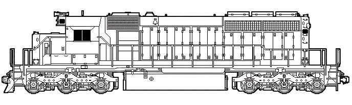 Missouri Pacific  3155 Detail Parts List  Ho Scale