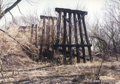The Relic Of A Mopac 3 Story Tall Wood Trestle Bridge