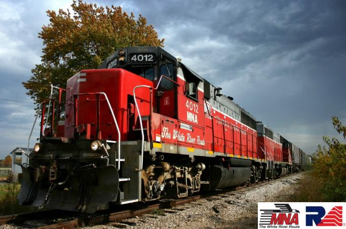 MNA 4081 at the locomotive shop, Carthage, MO, 12-1-08.