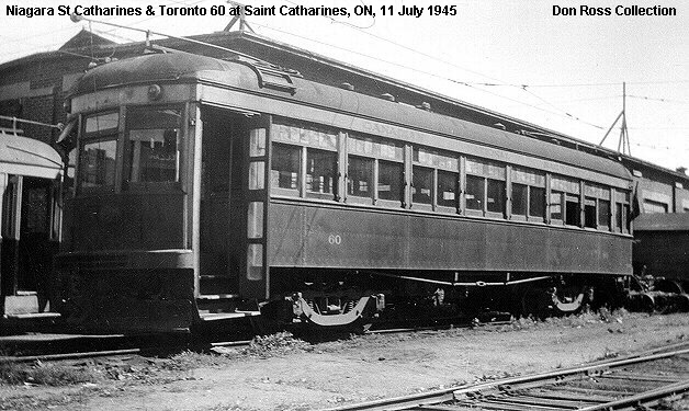 Niagara, St. Catharines & Toronto Railway No. 60 in St. Catharines, ON
