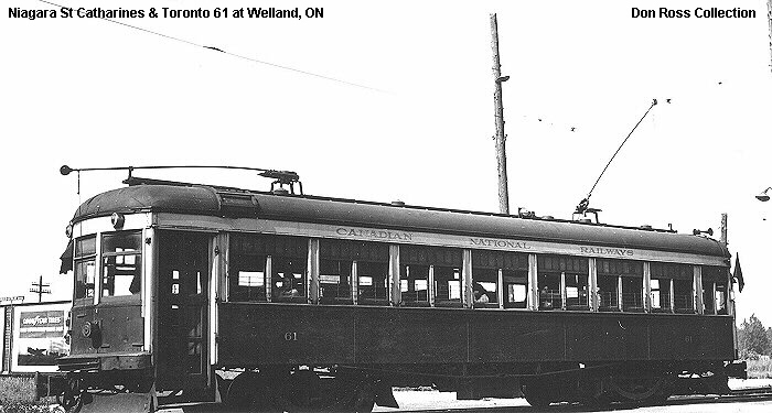 Niagara, St. Catharines & Toronto Railway No. 61 in Welland, ON