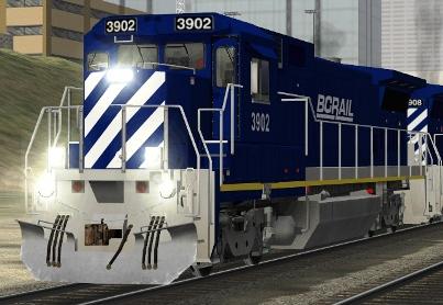 BC Rail B39-8E #3902