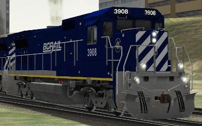 BC Rail B39-8E #3908