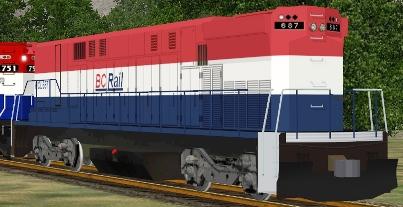 BC Rail M-420W #687