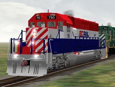 BC Rail SD40-2 #750