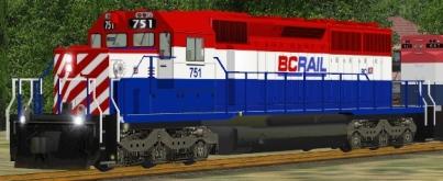 BC Rail SD40-2 #751