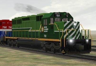 BC Rail SD40-2 #752