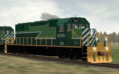 BC Rail SD40-2 #753