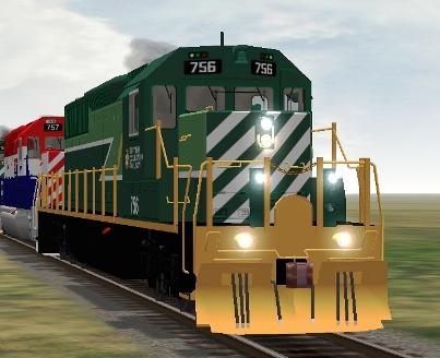 BC Rail SD40-2 #756