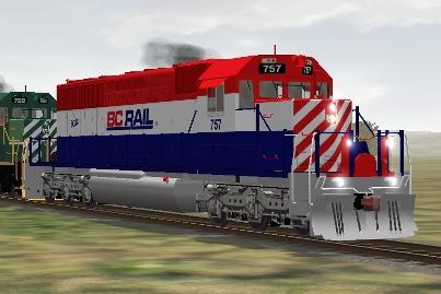 BC Rail SD40-2 #757