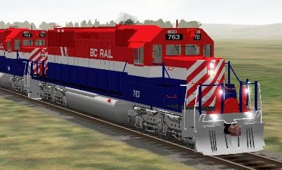 BC Rail SD40-2 #763