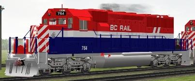 BC Rail SD40-2 #764