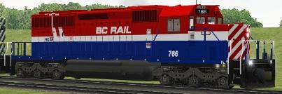 BC Rail SD40-2 #766