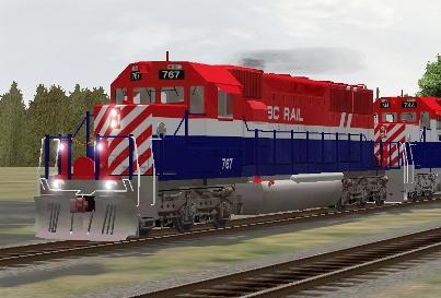 BC Rail SD40-2 #767