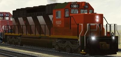 CN SD40 #5000