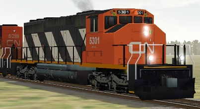 CN SD40-2(W) #5301 (cn5301.zip shown)