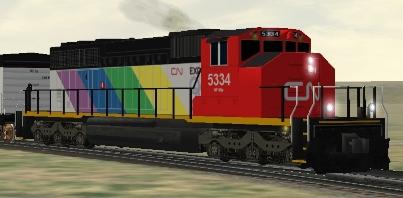 CN SD40-2(W) #5334 Expo86