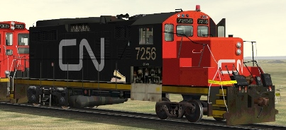 CN GP9rm #7256 w/ Wreck Damage