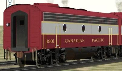 CP F9B #1901 (3DTrains_Fskin_CPR_1401.zip shown)