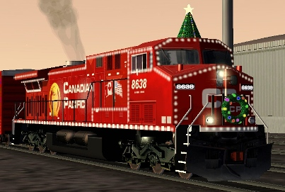 CP AC4400CW #8638 Holiday Express