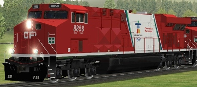 CP ES44AC #8858 Vancouver 2010 Olympics