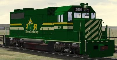 Hudson Bay Railway GP35 #2501