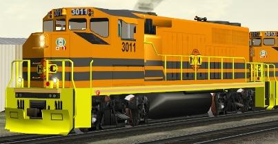 HCRY GP40-2L(W) #3011