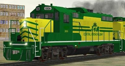 Okanagan Valley Railway / Central Kansas Railway GP10 #1006