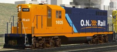 Ontario Northland GP9 #1605 (ON1605.zip shown)