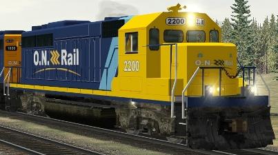 Ontario Northland GP40-2 #2200 (onrgp3pk.zip shown)