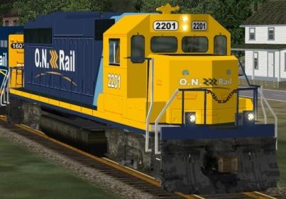 Ontario Northland GP40-2 #2201 (onr2201.zip shown)