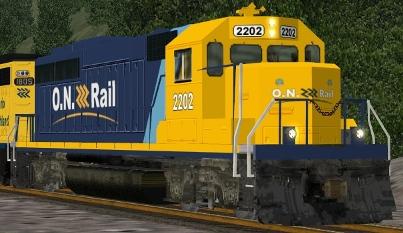 Ontario Northland GP40-2 #2202 (onr2202.zip shown)