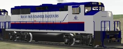 Rocky Mountaineer Railtours GP40-2(W) #8015