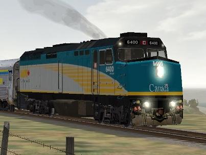 VIA Rail Canada F40PH-2 #6400 (Model not exactly as shown)