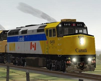 VIA Rail Canada F40PH-2 #6419