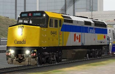 VIA Rail Canada F40PH-2 #6446 (MLT_Via_F40PH-2_6446.zip shown)