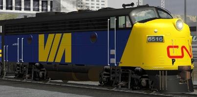 VIA Rail FP9A #6516