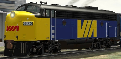 VIA Rail FP9A #6529