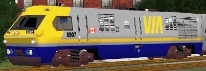VIA Rail BBD LRC-2 #6907