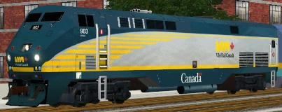 VIA Rail Canada P42DC #903 (via_903.zip shown)
