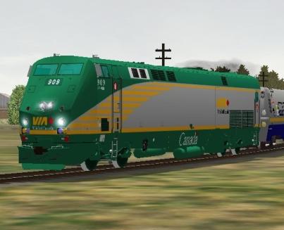 VIA Rail Canada P42DC #909 (via909.zip shown)