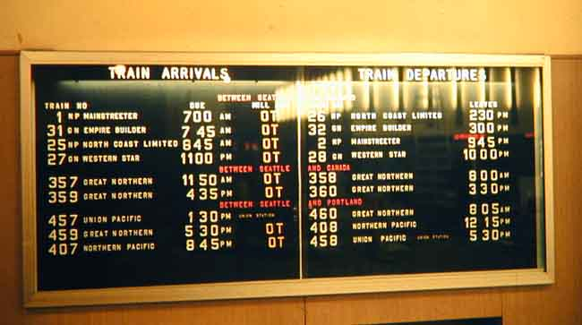 Seattle Schedule Board, Circa 1968, Ron Goodenow