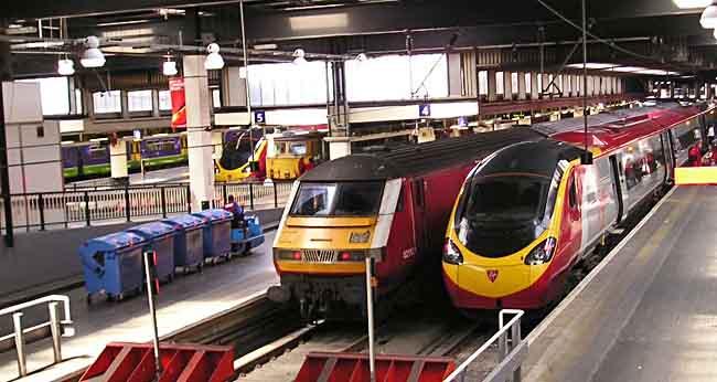 Virgin Züge aus London Euston