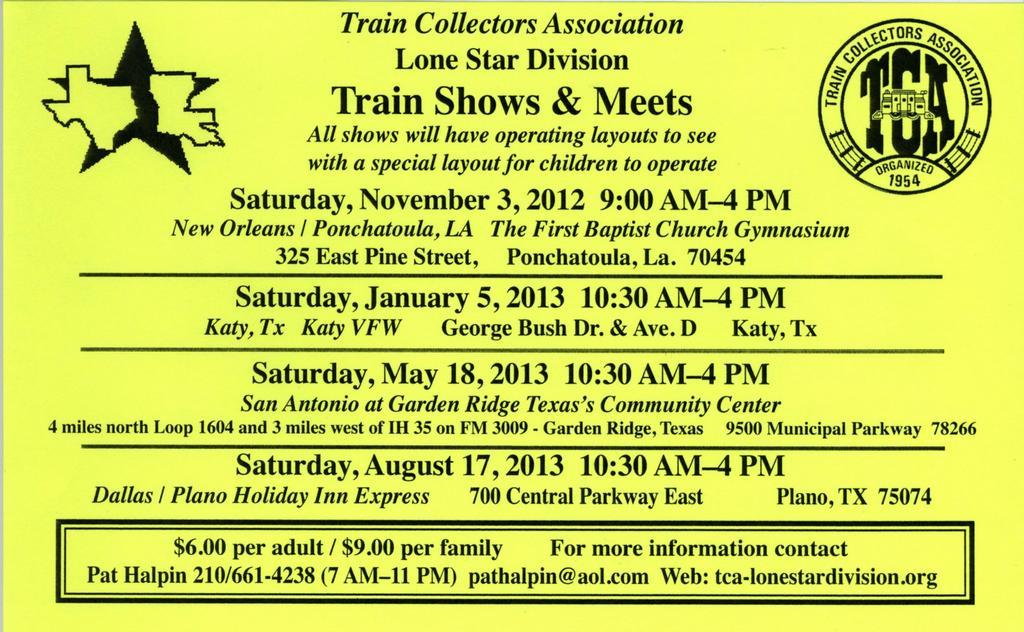 TTAT Club Schedule