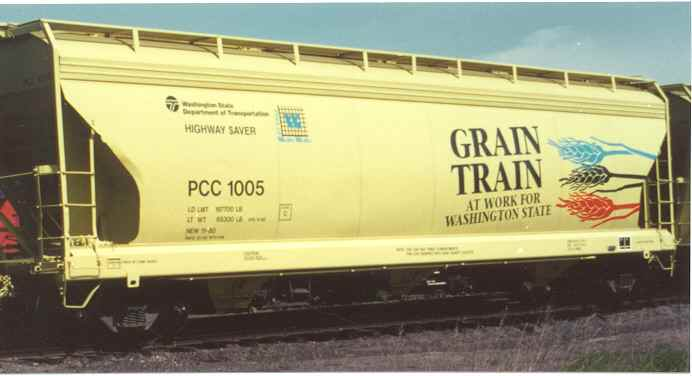 Grain Train Car With Palouse River Amp Coulee City Railroad