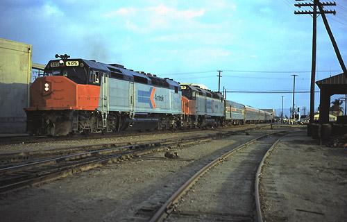 Amtrak Train At Santa Ana Station August 1973