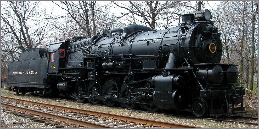 Image result for pennsylvania railroad 4483